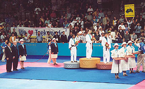 Go you good thing! Australia's Lauren Burns wins gold at Taekwondo (State Sports Centre)
